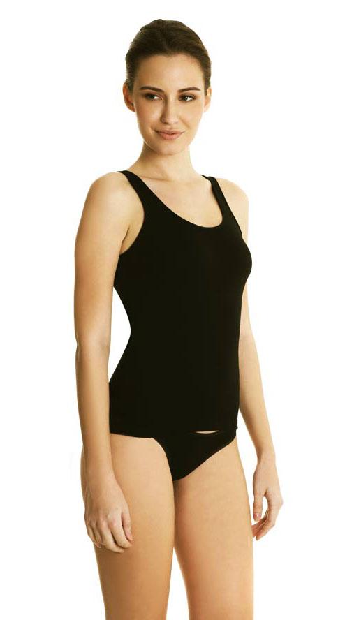 Φανελάκι γυναικείο Palco «Simply Cotton 0/081/0»,μαύρο, 2pack.