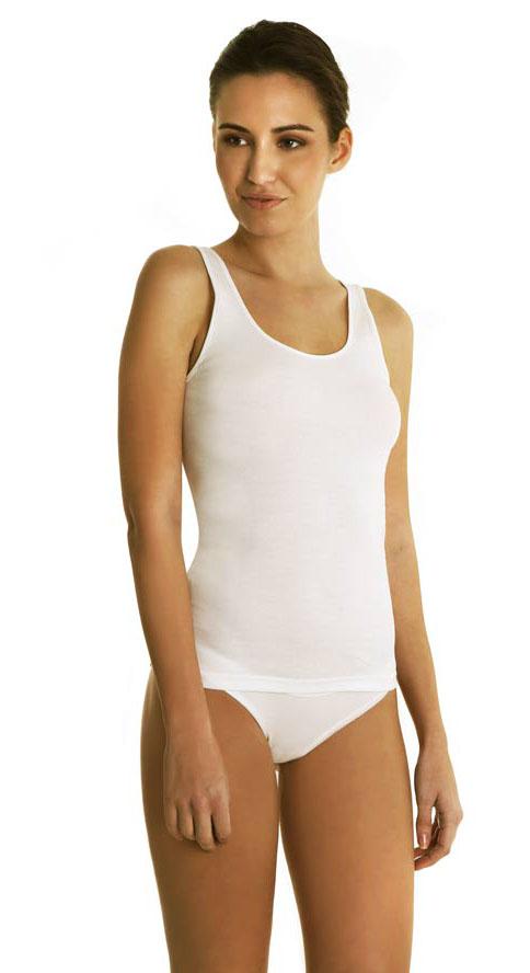 """Φανελάκι γυναικείο """"Palco Simply Cotton 0/081/1"""", λευκό, 2 pack."""