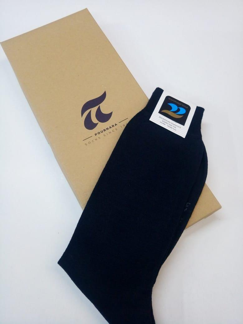"""Ανδρική κάλτσα """"ΠΟΥΡΝΑΡΑΣ 158"""", μάλλινη, μπλε."""