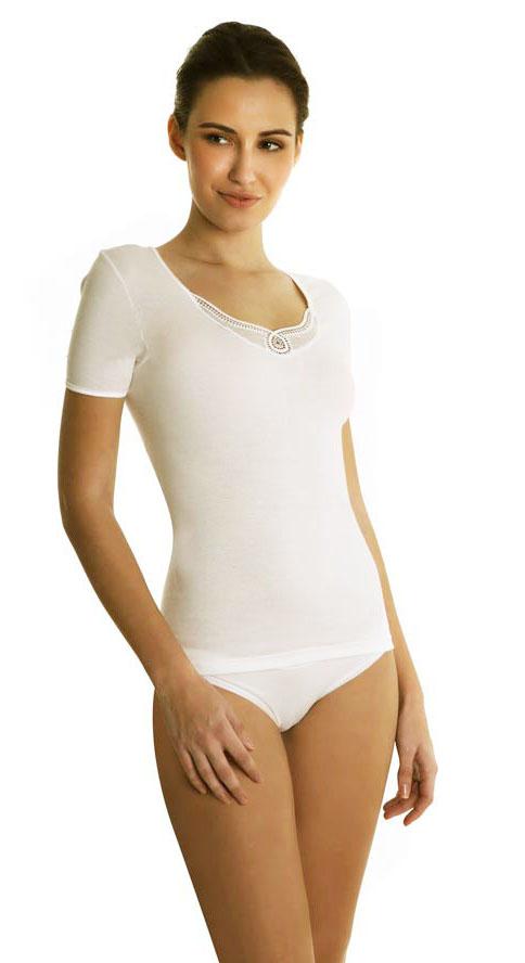 Γυναικεία φανέλα Palco με κοντό μανίκι 0/198/1,λευκό.