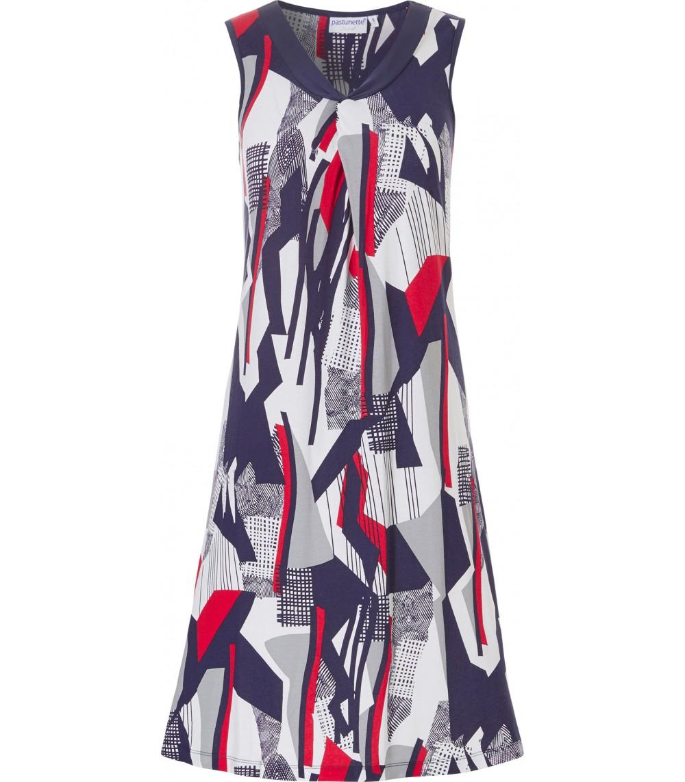"""Φόρεμα """"Pastunette """"Beach Tropical Navy Abstract"""", 16191-137-1, μπλε-εμπριμέ."""