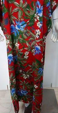 """Φόρεμα-Καφτάνι """"Billy's 19147"""", κόκκινο φλοράλ."""