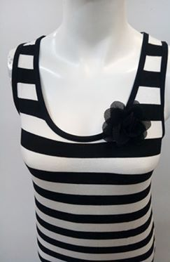 """Φόρεμα """"Scherzo 3892"""" , λευκό-μαύρο ριγέ."""