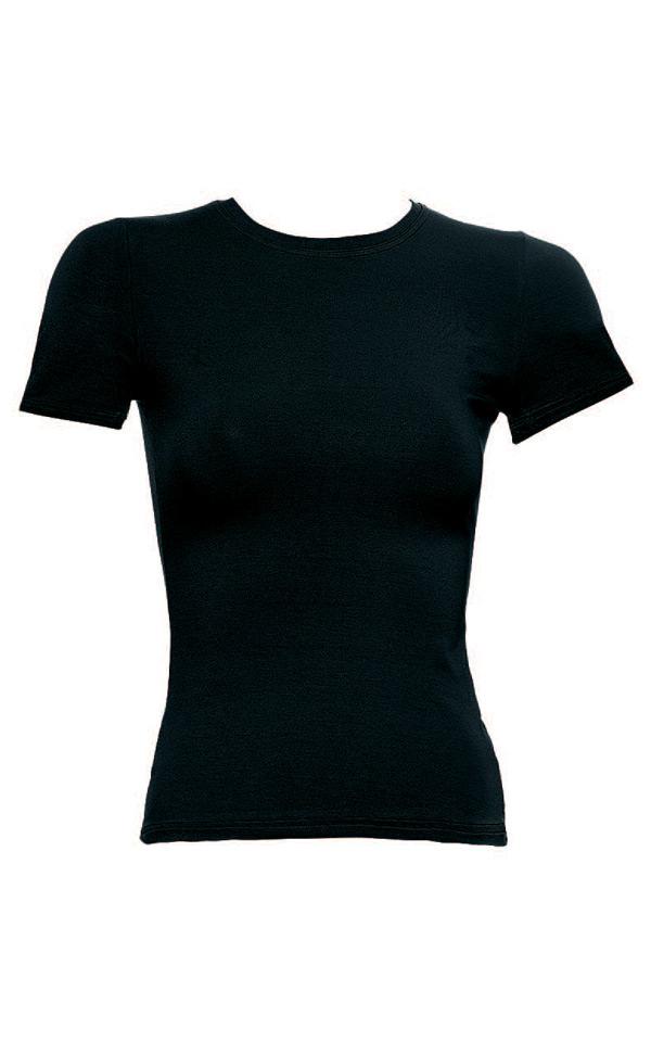 """Φανελάκι γυναικείο με κοντό μανίκι Modal """"Minerva 9150"""", μαύρο."""
